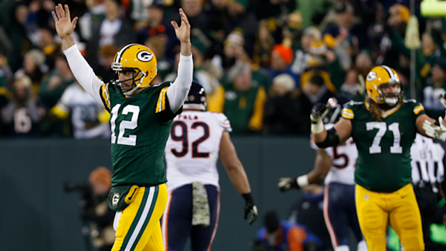<p>Aaron Rodgers had some playful commentary regarding the Chicago Tribune's tweets trolling the Packers quarterback.</p>