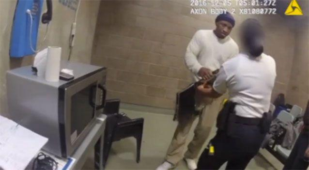 Prisoner punches guard as she tries to remove laptop