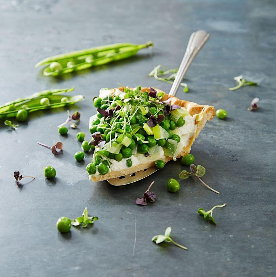 """<p>This pretty tart has a burst of spring vegetables in every bite.</p><a href=""""https://www.goodhousekeeping.com/food-recipes/a38312/sweet-pea-and-ricotta-tart-recipe/"""" rel=""""nofollow noopener"""" target=""""_blank"""" data-ylk=""""slk:Get the recipe for Sweet Pea and Ricotta Tart."""" class=""""link rapid-noclick-resp""""><em>Get the recipe for Sweet Pea and Ricotta Tart.</em></a>"""