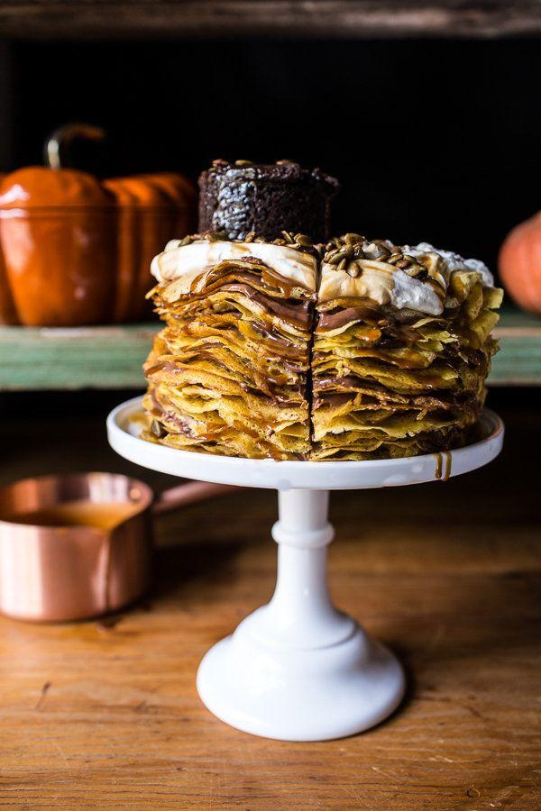 "<strong>Get the <a href=""http://www.halfbakedharvest.com/pumpkin-nutella-crepe-cake/"">Pumpkin Nutella Crepe Cake recipe </a>from Half Baked Harvest</strong>"