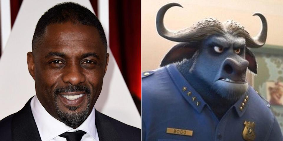 <p>Idris Elba voiced the buffalo chief of police in the 2016 movie<em> Zootopia</em> and a bullying sea lion in <em>Finding Dory</em> the same year. If we're counting live-action adaptations, he also gave Shere Khan his malicious purr in <em>The Jungle Book </em>in 2016.</p>
