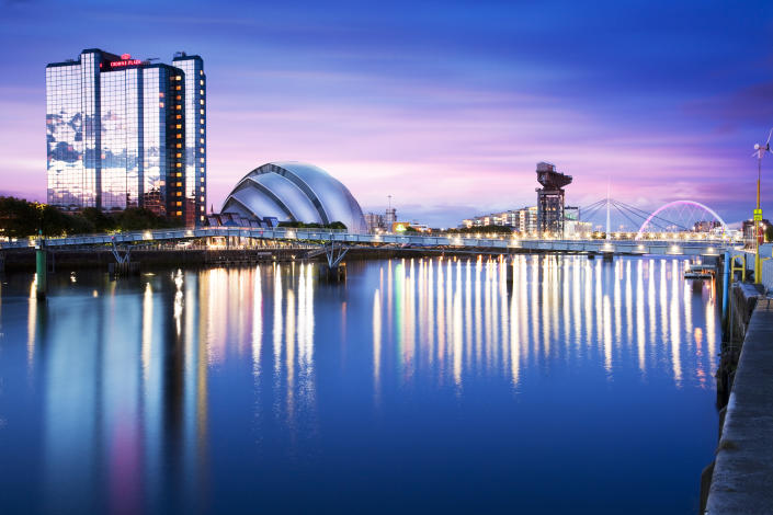 Glasgow: Not that stressful compared to its nearest neightbour. (Getty Images)