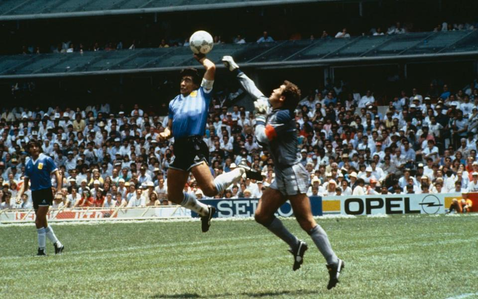 Argentina's Diego Maradona scores 1st goal with his Hand of God -  Bob Thomas