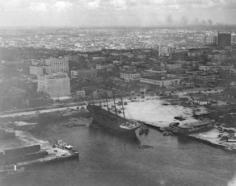 <p>Vista aérea de los daños en la bahía en Miami (Foto: Florida Photographic Collection / Dominio Público) </p>