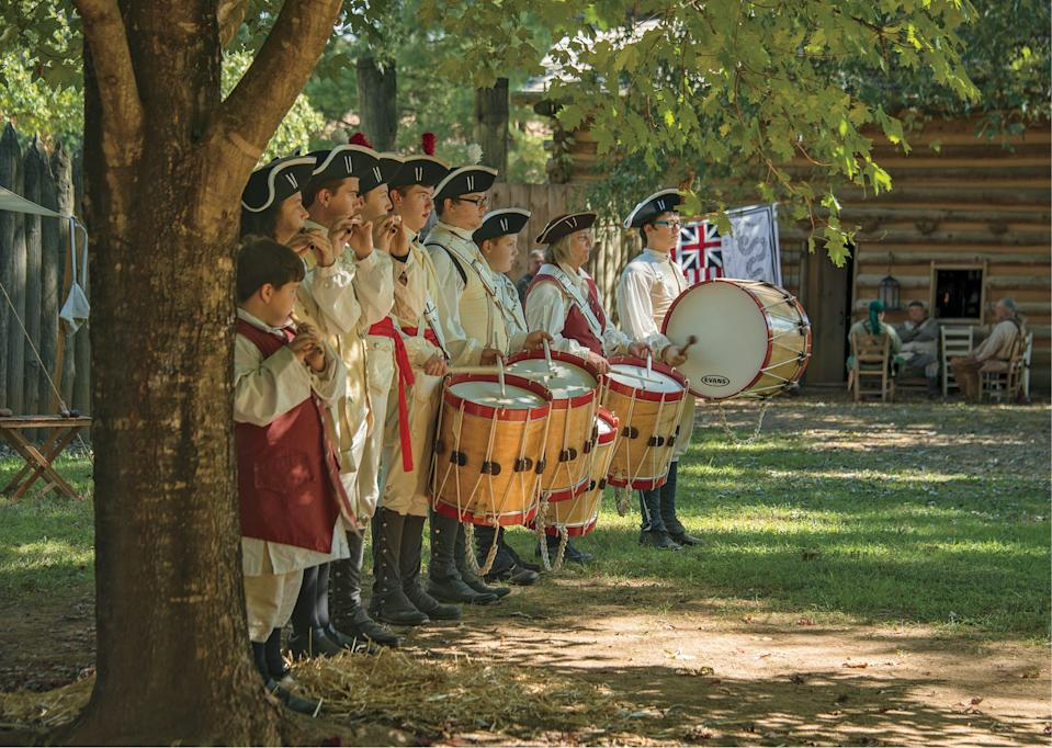 """""""It's not very well known, but it's considered one of the turning points of the Revolutionary War,"""" Berger says of 1780's Battle of Kings Mountain, in which southern mountain men outsmarted British forces."""