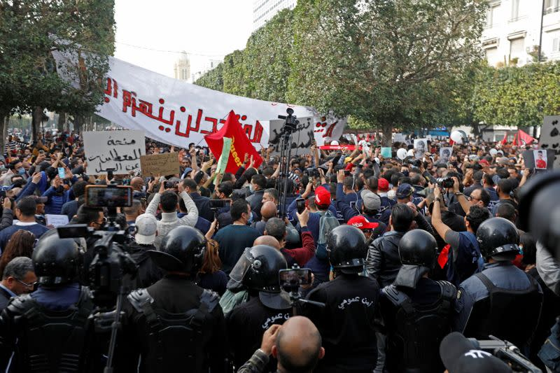 Big rally planned in Tunis to mark activist's death, protest police abuse