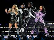 """<p>The Black Eyed Peas wore leather-look outfits somewhat inspired by American football gear, and complete with LED lights. </p><p><a class=""""link rapid-noclick-resp"""" href=""""https://www.youtube.com/watch?v=xPIiaSnYV5E&ab_channel=BBellidos"""" rel=""""nofollow noopener"""" target=""""_blank"""" data-ylk=""""slk:WATCH NOW"""">WATCH NOW</a></p>"""