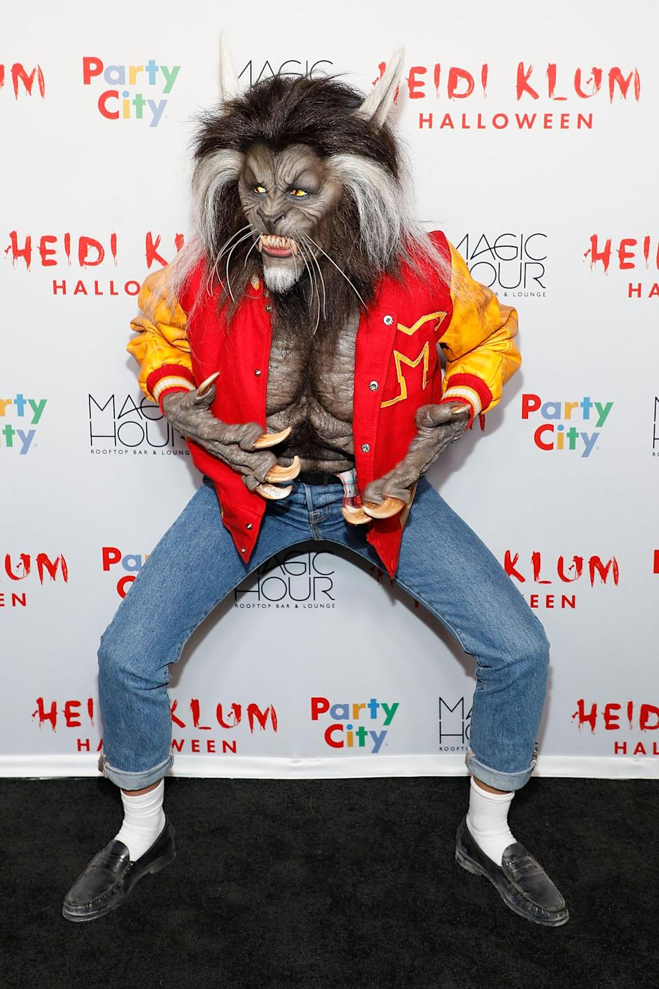 For her 18th annual Halloween party, Heidi pulled out all the stops and transformed into the werewolf from Michael Jackson's 1982 'Thriller' video.<em> [Photo: Getty]</em>