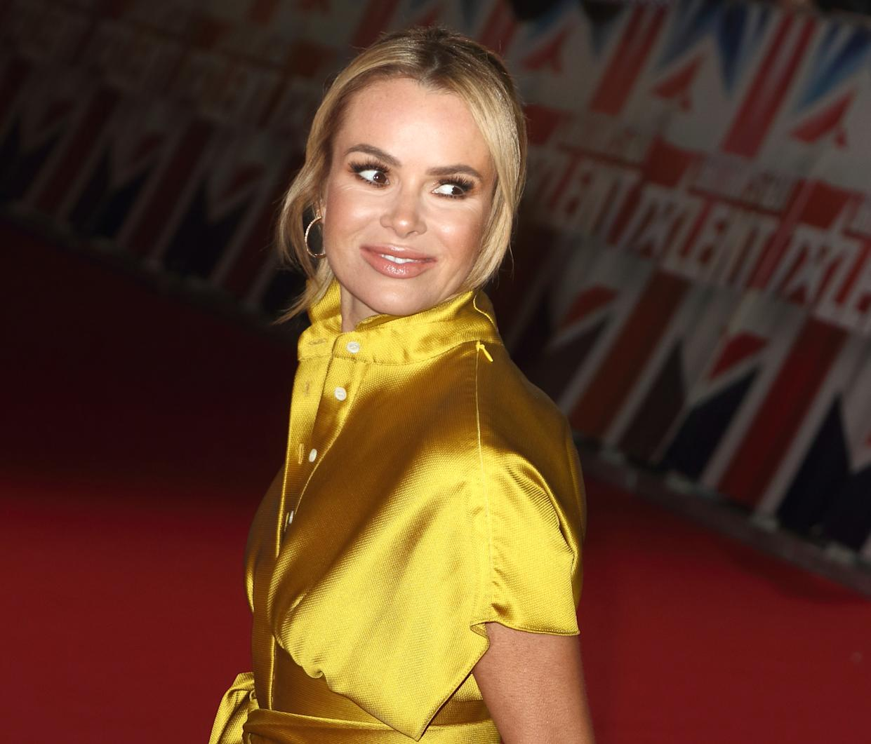 LONDON, -, UNITED KINGDOM - 2019/01/20: Judge Amanda Holden seen at the London Palladium for the Auditions of Britain's Got Talent TV Show - Series 13. (Photo by Keith Mayhew/SOPA Images/LightRocket via Getty Images)