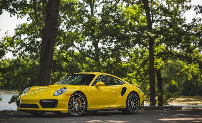 """<p>We've sampled a smorgasbord of 911s of late, and here's how they stack up in terms of acceleration: <a href=""""https://www.caranddriver.com/reviews/2018-porsche-911-carrera-t-acceleration-specs"""" rel=""""nofollow noopener"""" target=""""_blank"""" data-ylk=""""slk:The 911 Carrera T"""" class=""""link rapid-noclick-resp"""">The 911 Carrera T</a> with the seven-speed manual was one full second slower to the 60-mph mark and 1.4 seconds pokier in the quarter-mile with a trap speed of 118 mph.</p>"""