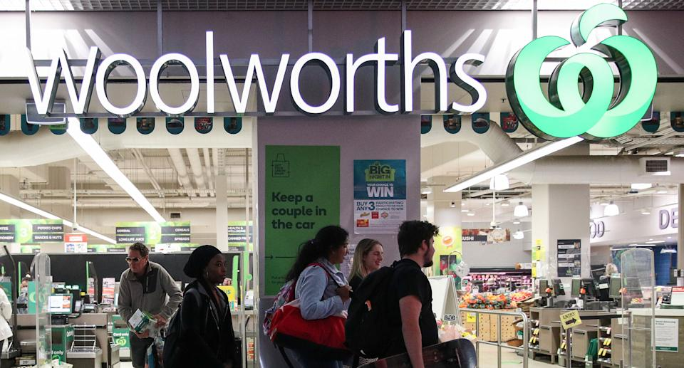 A coronavirus warning has been issued to shoppers who went to a Woolworths at Salamander Bay Village Woolworths. Pictured is a stock image of the supermarket in Sydney.