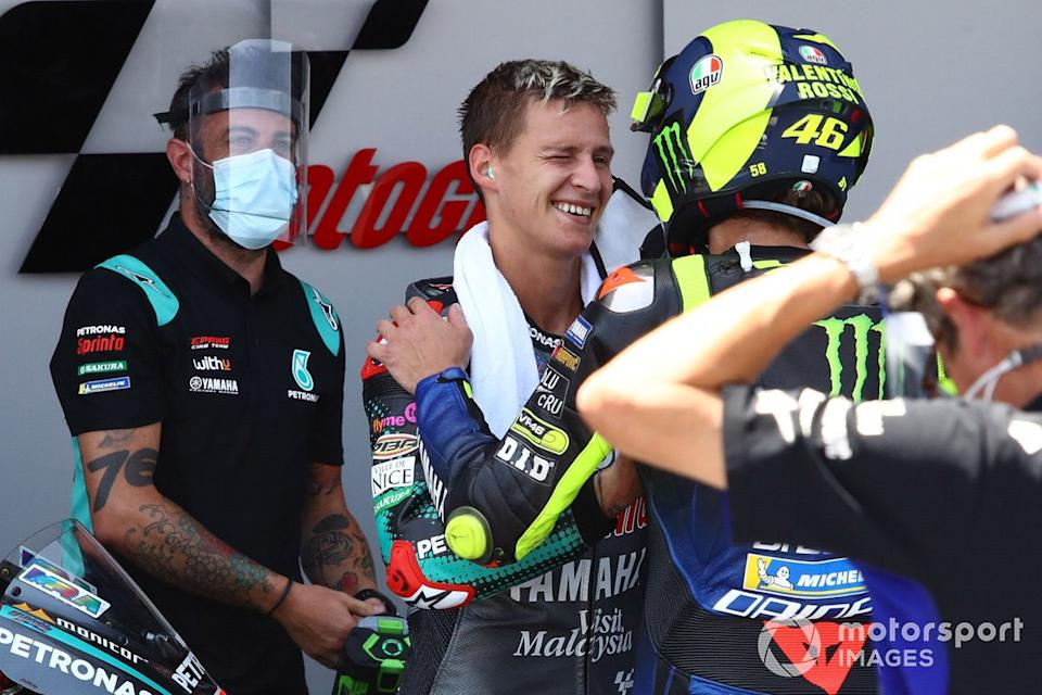 "Fabio Quartararo, Petronas Yamaha SRT, Valentino Rossi, Yamaha Factory Racing<span class=""copyright"">Gold and Goose / Motorsport Images</span>"