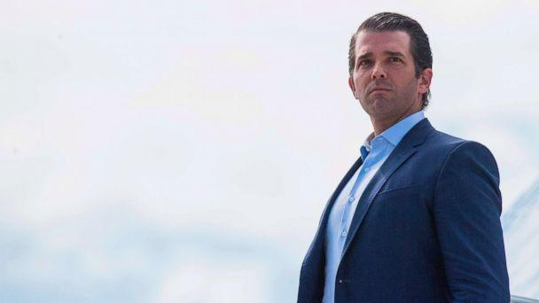 PHOTO: Donald Trump Jr., walks off Air Force One in Great Falls, Montana, on July 5, 2018. (Jim Watson/AFP/Getty Images)