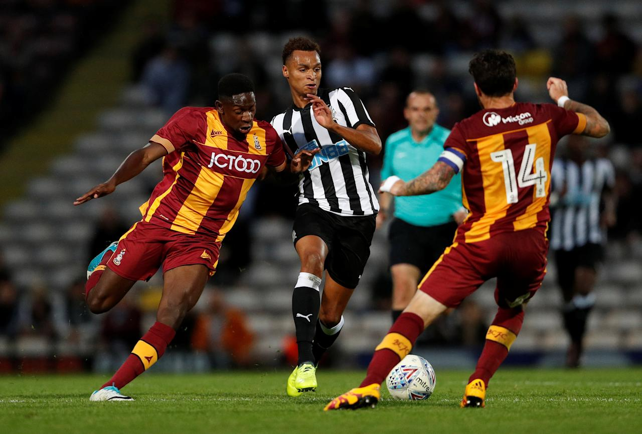 Soccer Football - Bradford City vs Newcastle United - Pre Season Friendly - Bradford, Britain - July 26, 2017   Newcastle's Jacob Murphy in action      Action Images via Reuters/Lee Smith