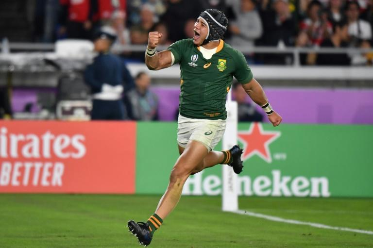 Cheslin Kolbe scored three tries at the 2019 Rugby World Cup