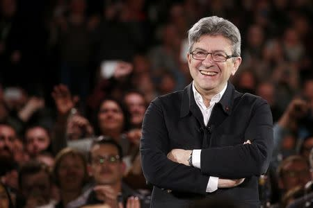 Jean-Luc Melenchon of the French far left Parti de Gauche and candidate for the 2017 French presidential election, attends a political rally in Lille, France, April 12, 2017.    REUTERS/Pascal Rossignol     TPX IMAGES OF THE DAY