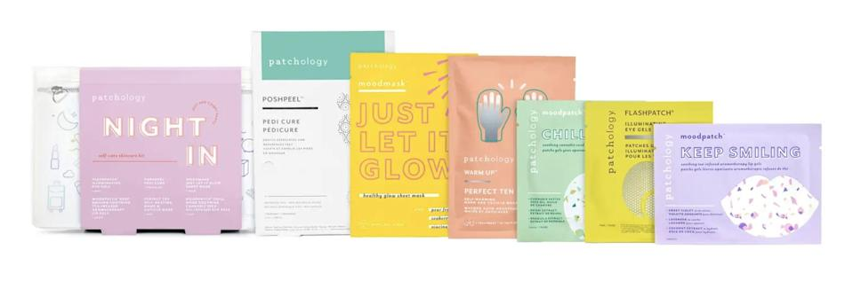 <p>What better way to encourage staying at home and self-care than to get the <span>Patchology Night-In Self Care Skin Kit</span> ($30)? </p>