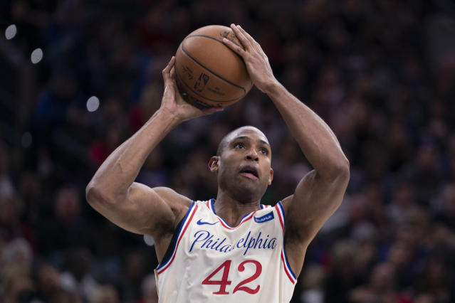 Al Horford will be in a positive situation as long as Joel Embiid is out. (Photo by Mitchell Leff/Getty Images)
