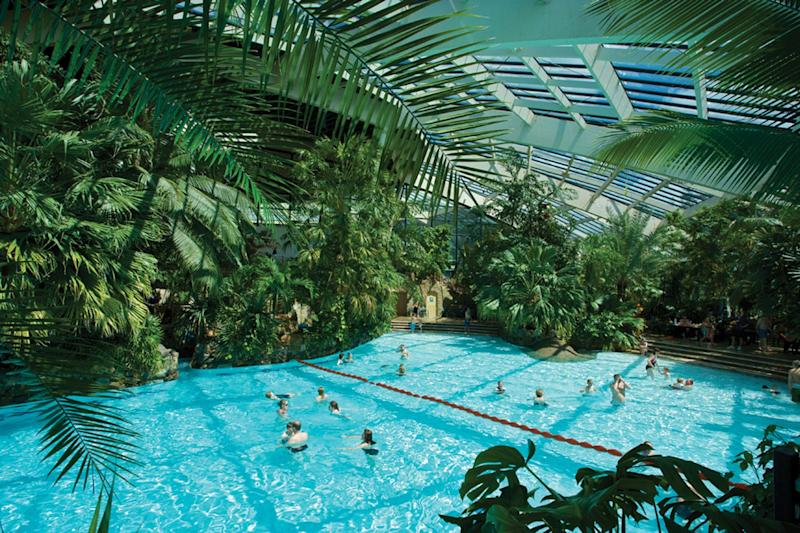 Ruling: the swimming pool at Center Parcs village in Longleat Forest