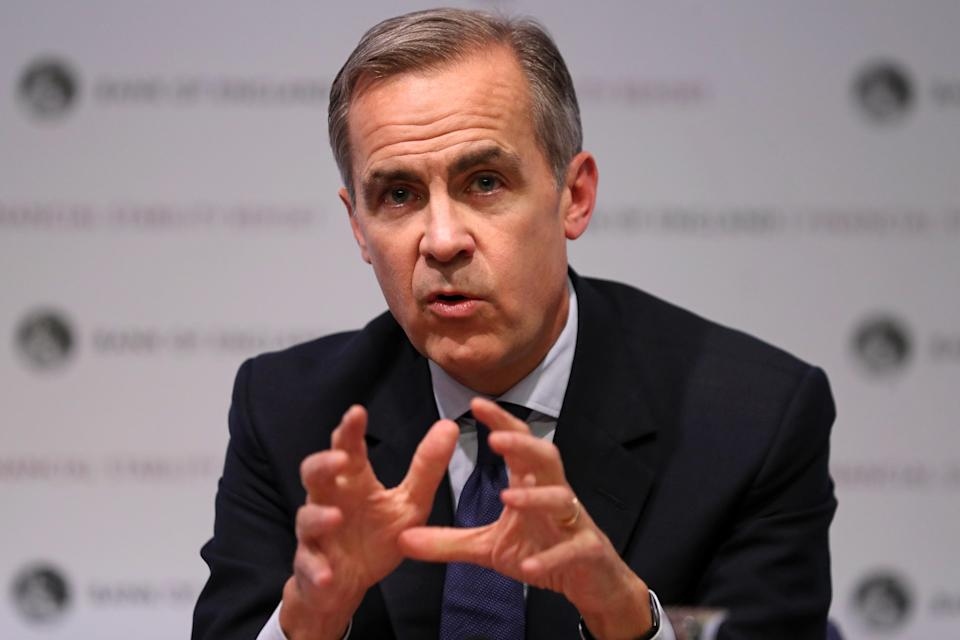 Governor of the Bank of England Mark Carney during the Bank of England's financial stability report at the Bank of England in the City of London. Photo: PA