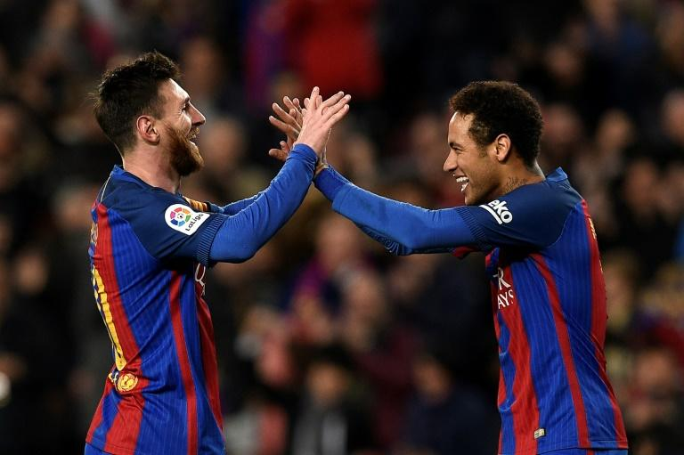 Lionel Messi (left) and Neymar formed part of one of the greatest forward lines in football history
