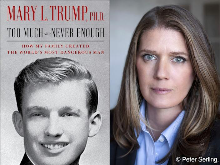 """Mary Trump on Tuesday published a book about her uncle Donald Trump, titled """"Too Much and Never Enough: How My Family Created the World's Most Dangerous Man."""""""