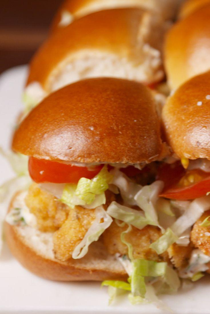 "<p>Little sandwiches, big flavor.</p><p>Get the recipe from <a href=""https://www.delish.com/cooking/recipe-ideas/recipes/a51213/shrimp-po-boy-sliders-recipe/"" rel=""nofollow noopener"" target=""_blank"" data-ylk=""slk:Delish"" class=""link rapid-noclick-resp"">Delish</a>.</p>"