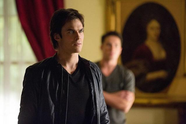 "Ian Somerhalder as Damon and Michael Trevino as Tyler in ""The Killer,"" the fifth episode of ""The Vampire Diaries"" Season 4."