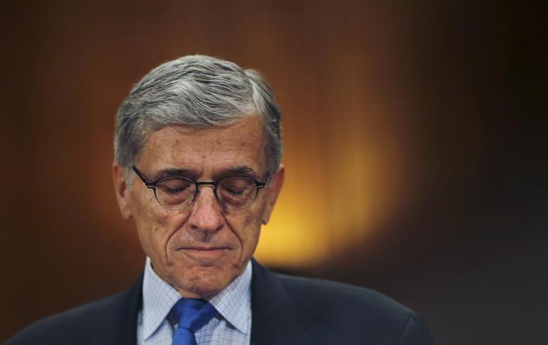 FCC Chairman Tom Wheeler arrives to testify before a Senate Appropriations Subcommittee hearing on FCC's proposed budget for 2016, in Washington