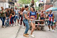 """<ul> <li><strong>What to wear for Usnavi: </strong>As a New York bodega owner who saves his money in hopes of a better life in <a href=""""https://www.popsugar.com/entertainment/in-the-heights-movie-trailer-47004466"""" class=""""link rapid-noclick-resp"""" rel=""""nofollow noopener"""" target=""""_blank"""" data-ylk=""""slk:In the Heights""""><strong>In the Heights</strong></a>, Usnavi keeps it casual. To channel this character, wear brown boots, jeans, and a gray T-shirt. </li> <li><strong>What to wear for Vanessa: </strong>As Usnavi's love interest (as well as the whole Heights), Vanessa dreams of getting out of her parents' house. Channel Vanessa by wearing a blue-and-red crop top, jean shorts, and white sneakers.</li> </ul>"""