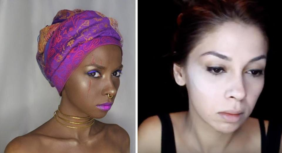 Percem Akin received a serious backlash after posting a slave-inspired make-up tutorial [Photo: YouTube]