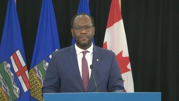 Alberta Justice Minister Kaycee Madu has introduced a bill that would allow petitions to push the government to consider new or amended laws. (CBC - image credit)