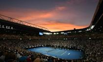 Rod Laver Arena, the Australian Open's centre court, is one of three roofed stadiums at Melbourne Park