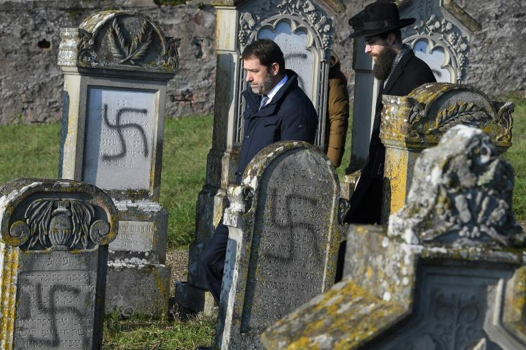 """""""The Republic itself has been desecrated,"""" Interior Minsiter Christophe Castaner said after visiting the cemetery"""