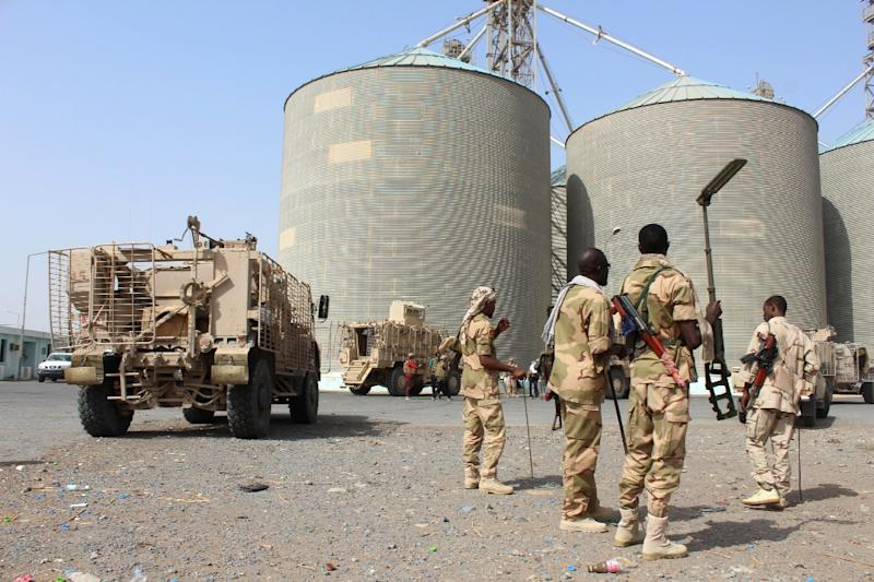 The Red Sea Mills grain silos in Yemen's city of Hodeida are said to hold enough food to feed 3.7 million people but UN aid agencies have been blocked from accessing the site since September (AFP Photo/Saleh Al-OBEIDI)