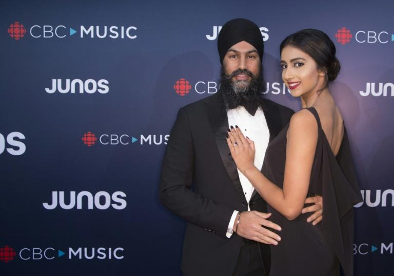 Canada's New Democratic Party leader Jagmeet Singh and Gurkiran Kaur are seen in Vancouver in 2018