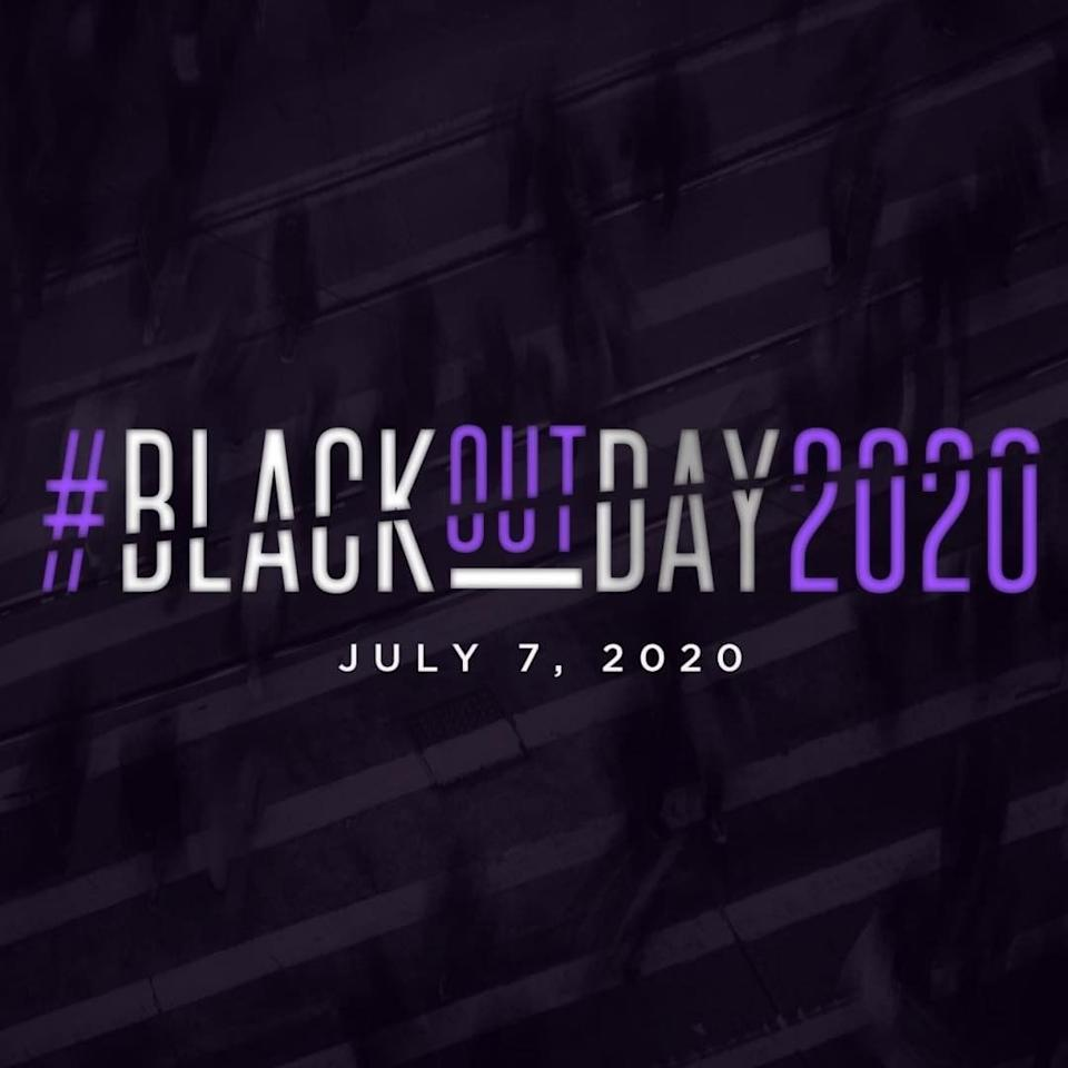 The Blackout Coalition created #BlackOutDay2020 in an effort to unify Black Americans and their over $1 trillion in spending power. (Instagram)