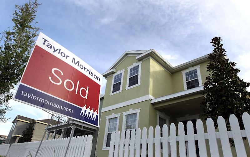 A home, shown Tuesday March 20, 2012, has sold inside the Winthrop subdivision in Riverview, Fla. Americans bought more previously owned homes in April, a hopeful sign that the weak housing market is gradually improving. The National Association of Realtors said Tuesday, May 22, 2012 that home sales rose 3.4 percent last month to a seasonally adjusted annual rate of 4.62 million.   (AP Photo/Chris O'Meara)
