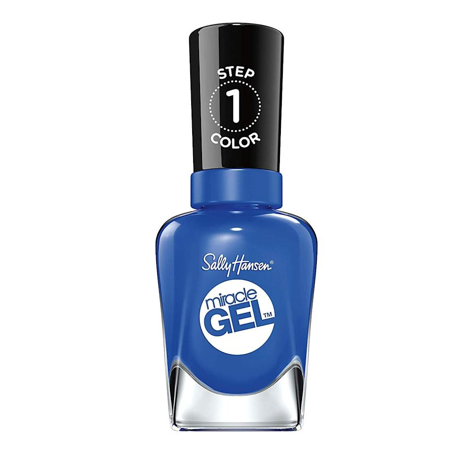 "<p>With more purple undertones than a royal or navy blue, cornflower is just as rich yet not nearly as expected. The bright hue, seen here as Sally Hansen's Miracle Gel in Tidal Wave, truly stands out again the skin — just look at the similar shade <a href=""https://www.allure.com/story/alex-morgan-blue-nail-polish-soccer-world-cup?mbid=synd_yahoo_rss"">worn by soccer star Alex Morgan</a> during the World Cup. It looks just as fun and vibrant on toes.</p> <p><strong>$10</strong> (<a href=""https://shop-links.co/1682946606192284118"" rel=""nofollow"">Shop Now</a>)</p>"