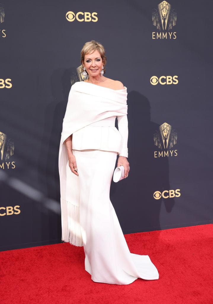 <p>Janney looked elegant in a sophisticated look by Azzie & Osta.<em> (Image via Getty Images)</em></p>