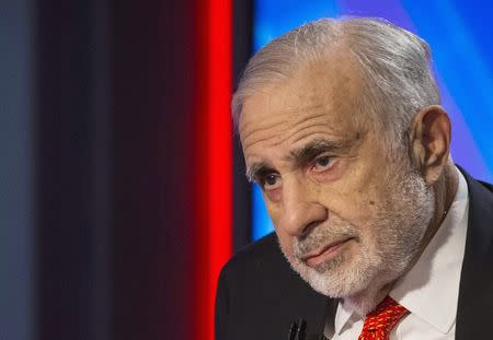 File photo of Billionaire activist-investor Icahn in New York