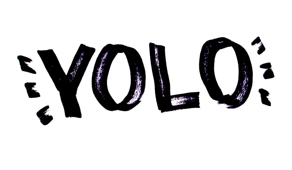 YOLO - You Live Only Once - hand drawn doodle lettering