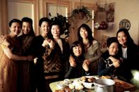 """<p>Centering around four pairs of Chinese-American women and their mothers in San Francisco, <em>The Joy Luck Club</em> both celebrates and unpacks the complicated dynamics of immigrant families. For better or worse, your parents are who they are, and if you're seeing them for the holidays, it's nice to know there's a movie out there that gets it. Make it a double-bill movie night with <em>The Pursuit of Happyness</em> and cry all your parent-child feelings out.</p> <p><a href=""""https://www.amazon.com/Joy-Luck-Club-Lisa-Lu/dp/B003SI605K"""" rel=""""nofollow noopener"""" target=""""_blank"""" data-ylk=""""slk:Available to rent on Amazon Prime Video"""" class=""""link rapid-noclick-resp""""><em>Available to rent on Amazon Prime Video</em></a></p>"""