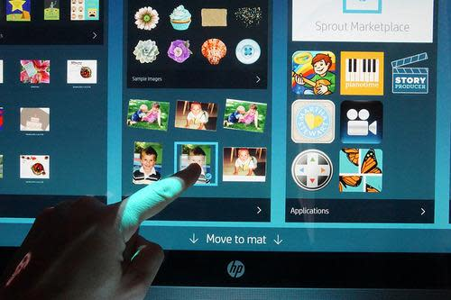 Touchscreen on HP Sprout