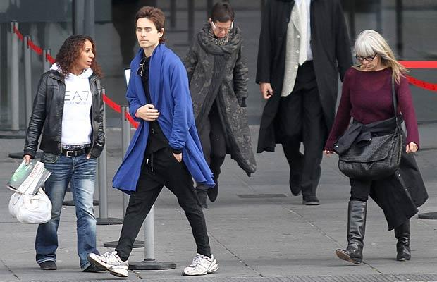 Jared Leto and his mom toured Paris on Friday. Marc Piasecki/FilmMagic.com