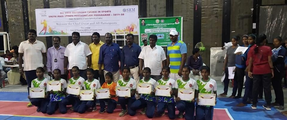 The girls had competed in a local tournament in Kattankulathur in Chennai.