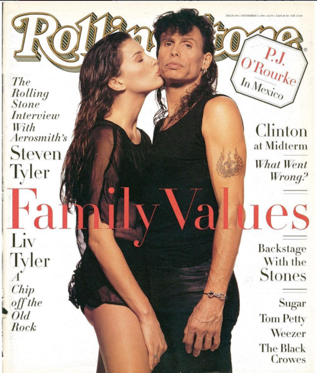 "<p>""Happy happy birthday to you my darling daddy!"" the actress wished her father, Aerosmith's Steve Tyler, posting their joint <em>Rolling Stone</em> cover from 1994. ""70 years young and 70 years wise. So proud to walk this earth with you. To be born a part of your wolf pack. Thank you for teaching me to never take no for an answer. To always ask more questions. To really look and really listen and to really feel everything. To feel joy and gratitude even when things don't go as planned. To stop and smell alllll the roses along the way even if we get lost doing so. To stand up for and fight for what you believe in. To read between the lines and listen for the hidden rhythm in everything in life. You are a force to be reckoned with , a true inspiration and when you open your mouth to sing you light up the whole world. Thank you . Happy birthday daddy. May all your dreams come true. I know you'll be working hard to find them."" (Photo: <a href=""https://www.instagram.com/p/BgzZLnLHOlM/?taken-by=misslivalittle"" rel=""nofollow noopener"" target=""_blank"" data-ylk=""slk:Liv Tyler via Instagram"" class=""link rapid-noclick-resp"">Liv Tyler via Instagram</a>) </p>"