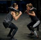 """<p>It's easy to avoid working out if you have ailments, like bad knees, but Halle said you just need to do the right exercises. She and Thomas <a href=""""https://www.womenshealthmag.com/fitness/a26839980/halle-berry-favorite-low-impact-workout-instagram/"""" rel=""""nofollow noopener"""" target=""""_blank"""" data-ylk=""""slk:recommend"""" class=""""link rapid-noclick-resp"""">recommend</a>replacing moves like squats with kickbacks and glute bridges.</p>"""