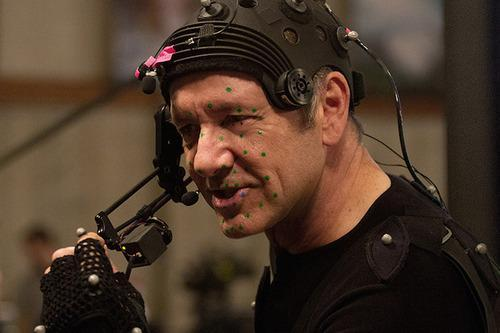 Kevin Spacey in motion-capture gear