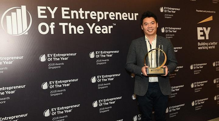 CEO of PatSnap Jeffrey Tiong wins EY Entrepreneur of the Year 2018